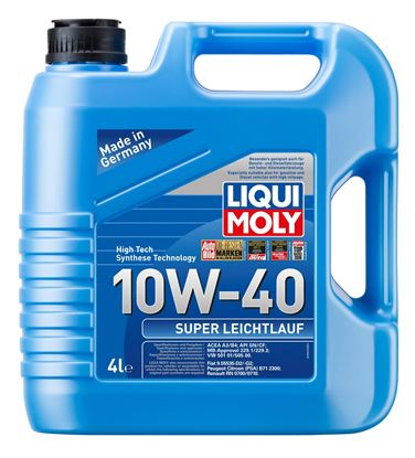 Resim LIQUI MOLY 10W40 Motor Yağı Süper Sentetik  SUPER LEICHTLAUF 4 Litre  (9504)