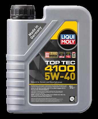 Resim LIQUI MOLY 5W40 Motor Yağı TOP TEC 4100 Tam Sentetik 1 Litre (9510)
