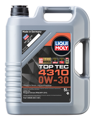 Resim LIQUI MOLY 0W30 Motor Yağı Tam Sentetik TOP TEC 4310  5 Litre (2362)