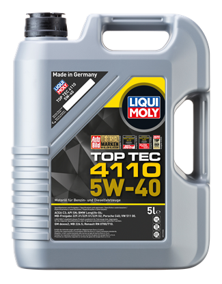 Resim LIQUI MOLY 5W40 Motor Yağı TOP TEC 4110 Tam Sentetik 5 Litre (21479)